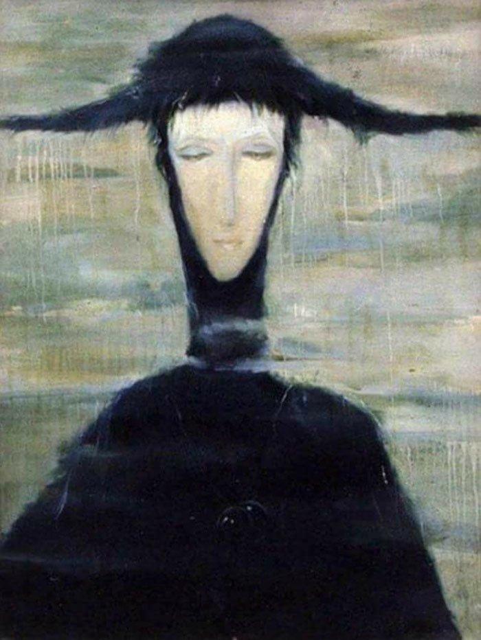 """6. """"Женщина дождя"""", Светлана Телец жутко, интересное, искусство, истории, картины, мистика, проклятие, художники"""