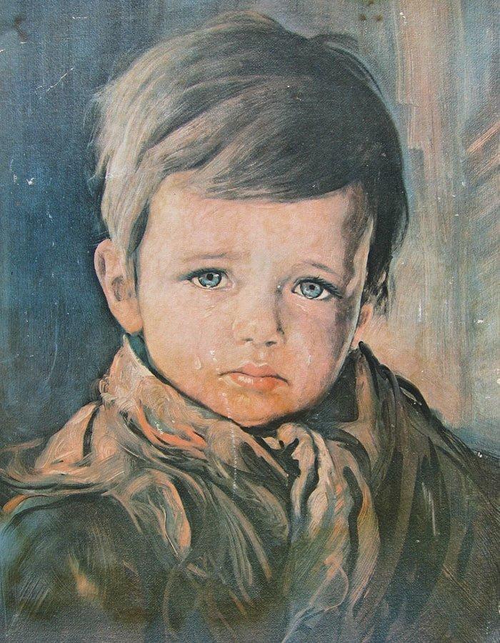 """7. """"Плачущий мальчик"""", Джованни Браголин жутко, интересное, искусство, истории, картины, мистика, проклятие, художники"""