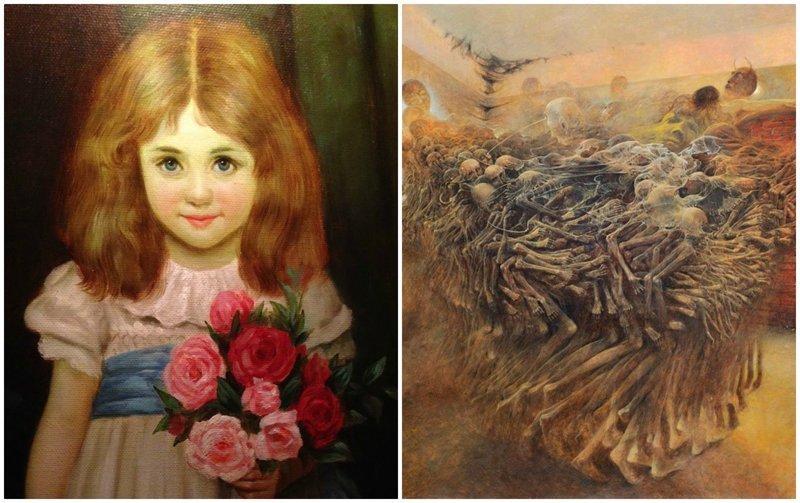 """10 """"проклятых"""" картин, за которыми стоят жуткие истории жутко, интересное, искусство, истории, картины, мистика, проклятие, художники"""