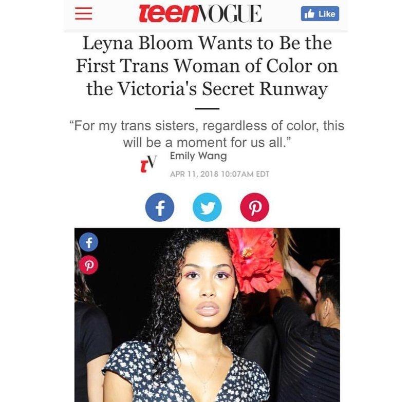 """Модель-трансгендер собирается стать """"ангелом"""" Victoria's Secret Victoria's Secret, глянец, подиум, толерантность, трансгендеры"""