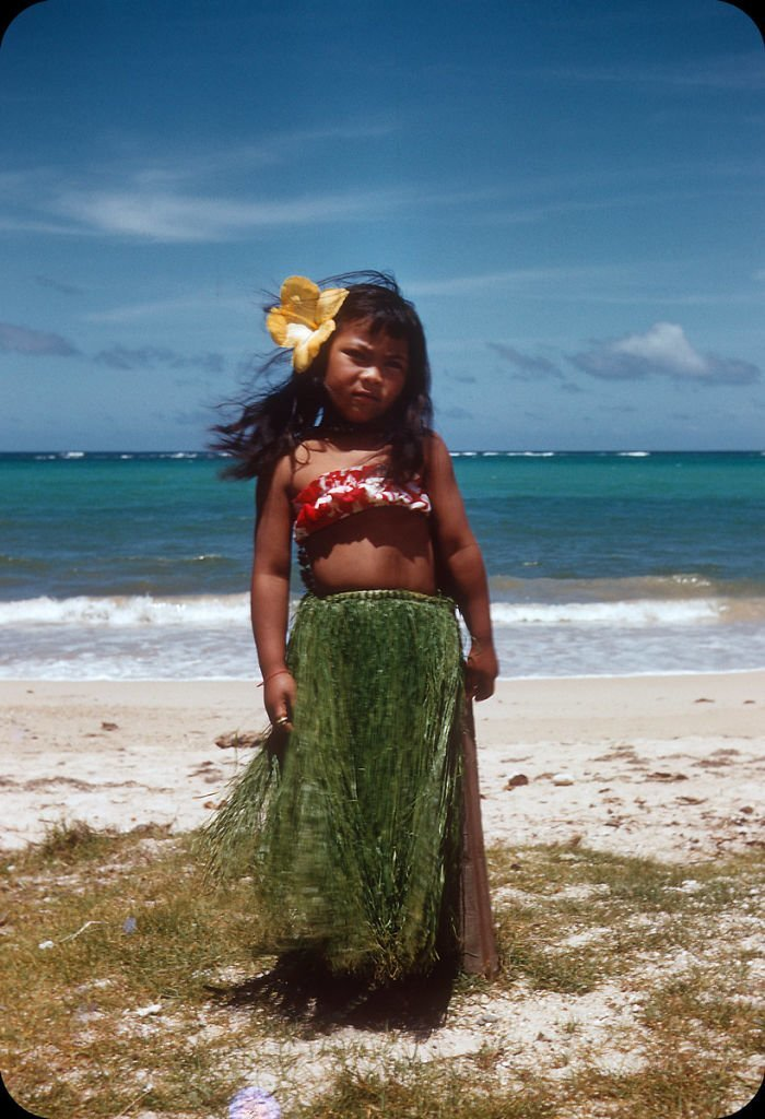 30. Гавайи, 1956 г. 20 век, 20 век в цвете, 50-е, 50-е года, жизнь в Америке, жизнь в сша, старые фотографии, сша