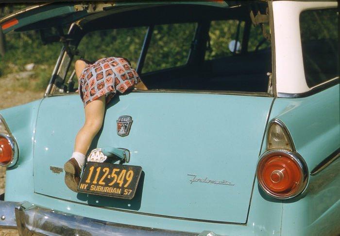 22. 1957 г. 20 век, 20 век в цвете, 50-е, 50-е года, жизнь в Америке, жизнь в сша, старые фотографии, сша