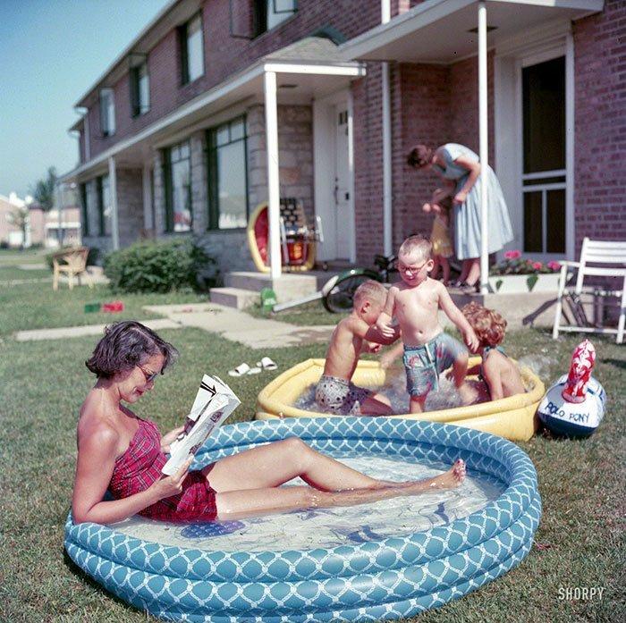 24. 1954 г. 20 век, 20 век в цвете, 50-е, 50-е года, жизнь в Америке, жизнь в сша, старые фотографии, сша