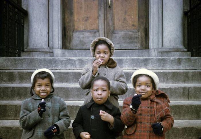 21. Чикаго, 1953 г. 20 век, 20 век в цвете, 50-е, 50-е года, жизнь в Америке, жизнь в сша, старые фотографии, сша