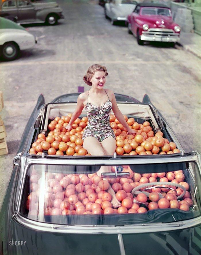 28. 1951 г. 20 век, 20 век в цвете, 50-е, 50-е года, жизнь в Америке, жизнь в сша, старые фотографии, сша