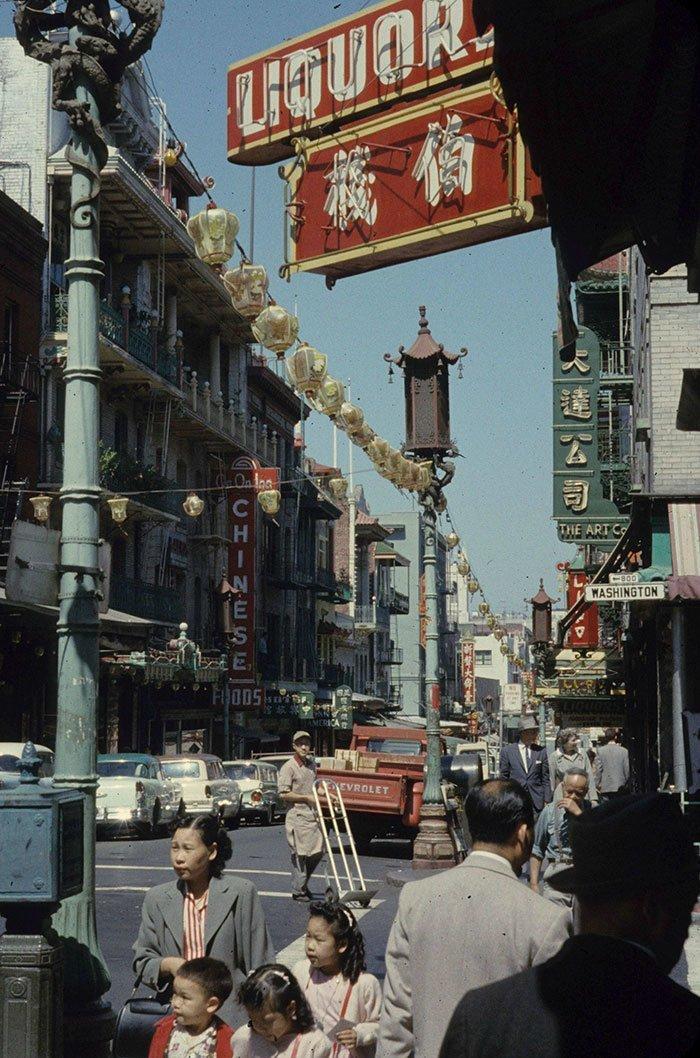 25. Сан-Франциско, 1951 г. 20 век, 20 век в цвете, 50-е, 50-е года, жизнь в Америке, жизнь в сша, старые фотографии, сша