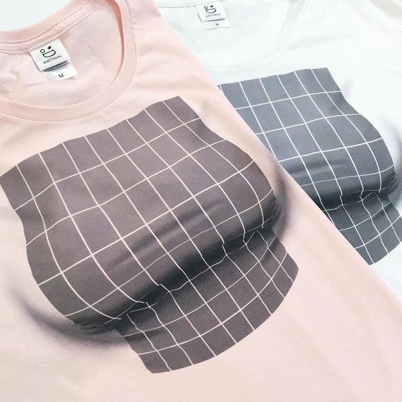 Оптический обман на службе у женщин: футболки с иллюзией увеличения груди грудь, иллюзия, обман зрения, одежда, одежда женская, оптическая  иллюзия, оптический обман, прикол