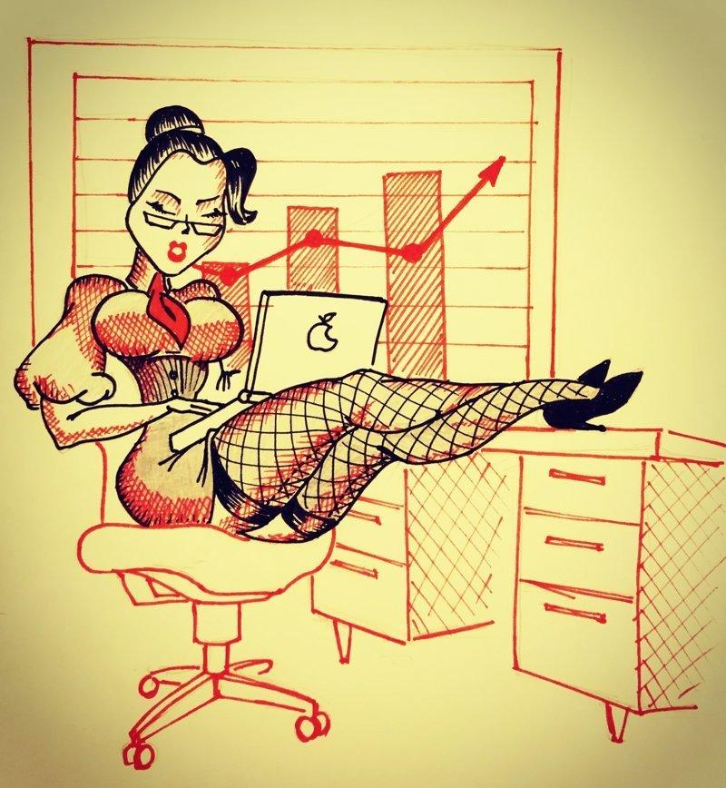 Но как оказалось и в офисе есть на что посмотреть.  #девушки, #рисования красота, #рисунки