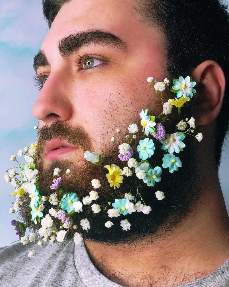 Пришла весна, зацвели бороды Instagram, бородачи, бороды, весна, забавно, необычно, флешмоб, цветущие бороды