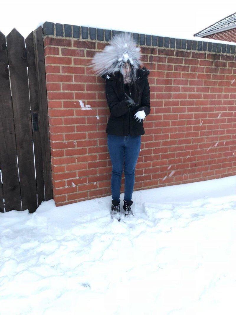 Снежок в лицо день, животные, кадр, люди, мир, снимок, фото, фотоподборка