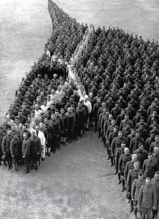 Кавалеристы в память о погибших лошадях инетресное, старые забавы, факты, фигуры из людей, флешмоб
