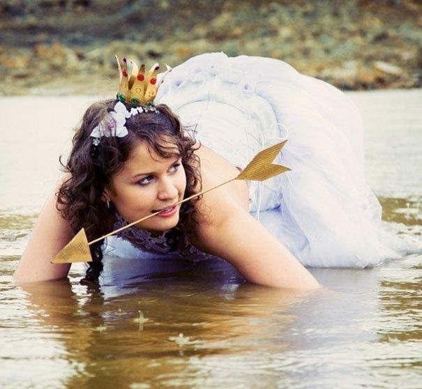 Сказочная принцесса, от которой лучше держаться подальше жених, невеста, прикол, россия, свадьба, юмор