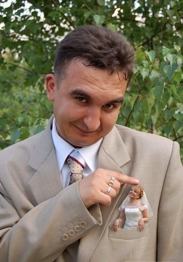 Интересный факт: кроме как на свадьбе такие игры с миниатюризацией не делают жених, невеста, прикол, россия, свадьба, юмор