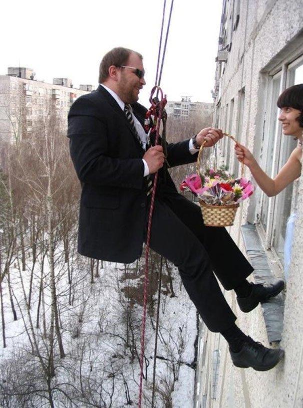 Не перевелись еще романтики на Руси! жених, невеста, прикол, россия, свадьба, юмор