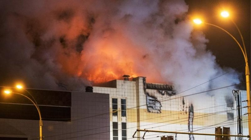 Кемерово. Звонки на 112 #зимняя вишня, #кемерово, #пожар, видео