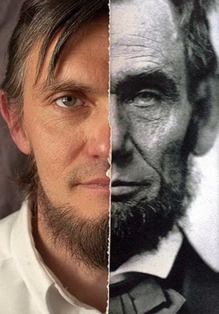 21. Ральф Линкольн, потомок Авраама Линкольна в 11-м поколении дети, неожиданно, подборка, родители, семья, сравнение, тогда и сейчас, фото