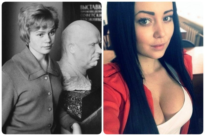 Как выглядели студентки 1 курса раньше и сейчас девушки, интересно, советские студенты, современные студенты, студентки, студенты, тогда и сейчас, фото