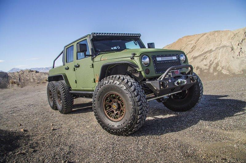 Jeep Wrangler 6х6 автомобили, бездорожье, внедорожники, проходимцы