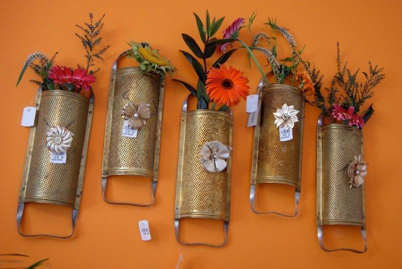2. Кашпо или мини-вазы для растений до и после, из терки, интересно, новая жизнь старых вещей, своими руками, фото