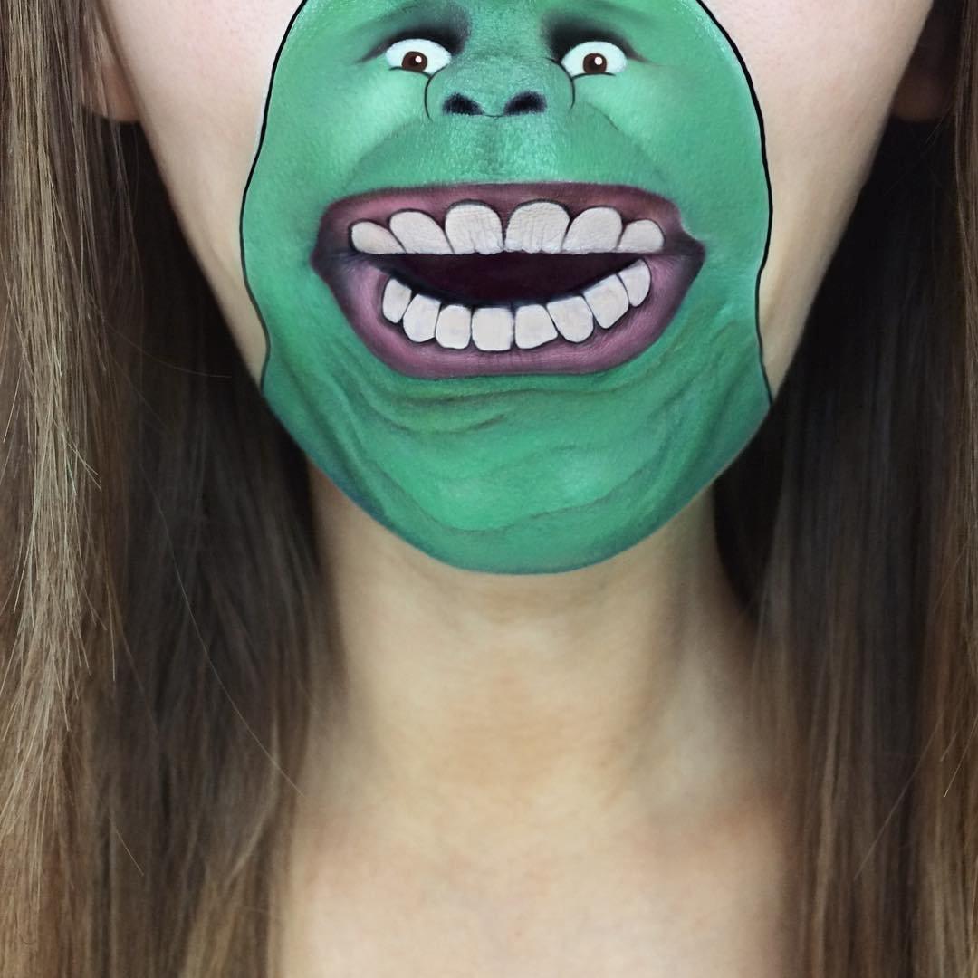 Для, картинки смешного грима лица