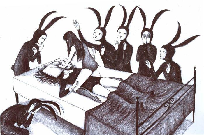 Итальянский художник в своих иллюстрациях смешивает сюрреализм и ужас иллюстрация, искусство, картина, сюрреализм, ужас, художник