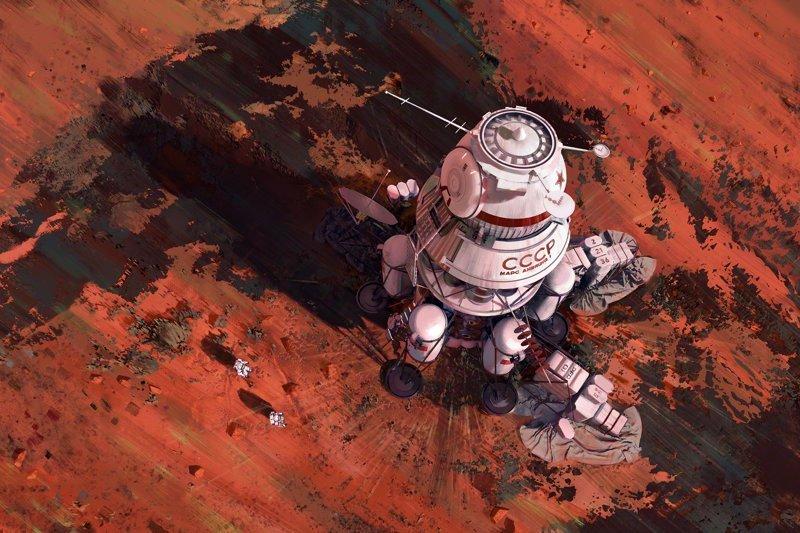 Альтернативная история освоения космоса от польского художника альтернативная история, будущее, иллюстрации, космос, мацей ребиж