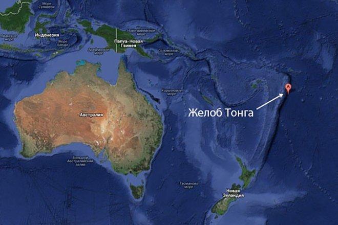Жёлоб Тонга — самая глубока впадина в Южном полушарии и вторая по глубине на Земле батискаф, впадины, загадки, земля, интересное, океан, факты