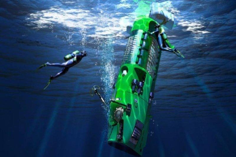 """Только спустя 52 года, 26 марта 2012 года,  рекорд """"Триеста"""" повторил Джеймс Кэмерон на батискафе Deepsea Challenger батискаф, впадины, загадки, земля, интересное, океан, факты"""