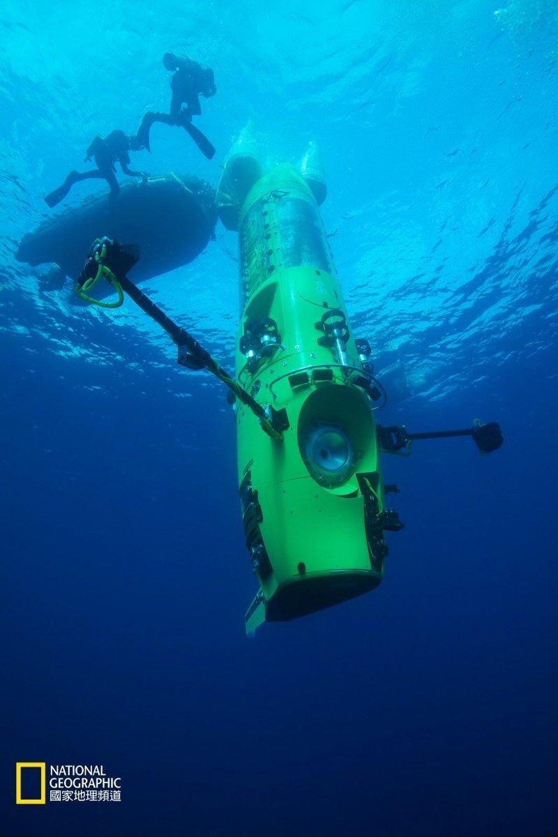 Аппарат Deepsea Challenge опускался на дно со скоростью 3—4 узла батискаф, впадины, загадки, земля, интересное, океан, факты