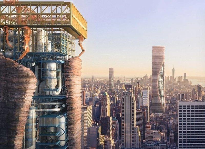 Надувной небоскреб спасет оставшихся без крова Evolo, архитектура, дизайн, конкурс, небоскребы, необычно, неожиданно, творчество
