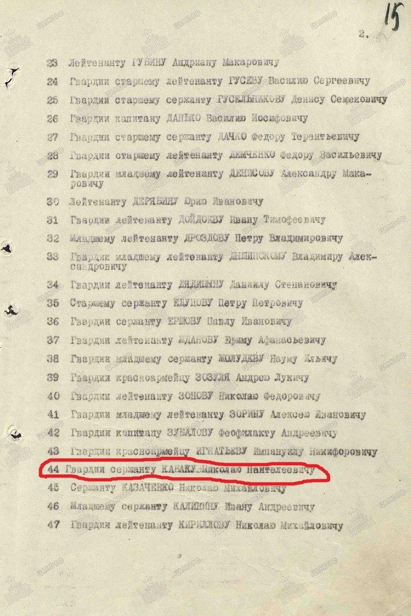Герои Советского Союза. Николай Пантелеевич Кабак СССР, война, герой советского союза, история, факты