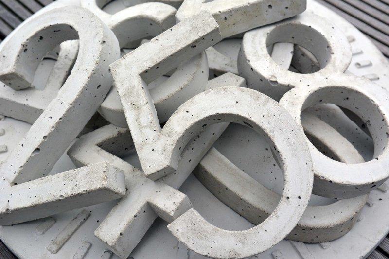 Можно монументальных цифр наделать - бетонных Фабрика идей, адрес, интересное, креатив, номера, умельцы
