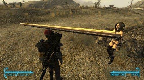 1. Наверняка у этого персонажа из Fallout: New Vegas проблемы с поиском белья подходящего размера баг, гифки, игра, прикол, юмор