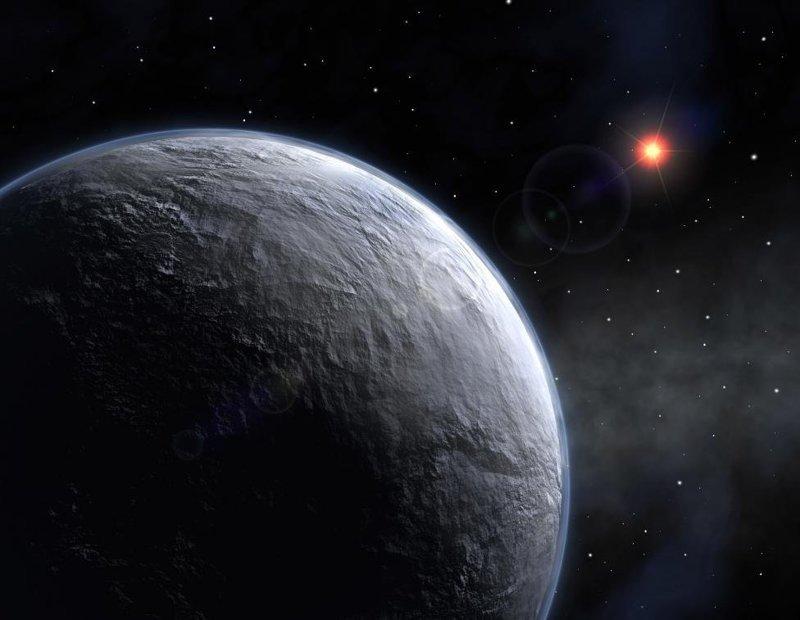 Планета под названием OGLE-2005-BLG-390Lb вращается вокруг красной звезды массой в пять раз меньше Земли и находится от нас на расстоянии около 20 тыс. световых лет космос, красота, планета, рисунки, художники