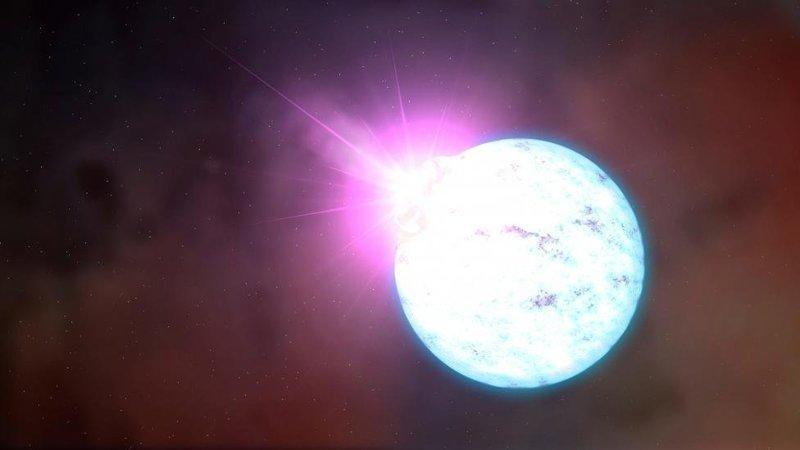 Вспышка на магнетаре — намагниченной нейтронной звезде космос, красота, планета, рисунки, художники