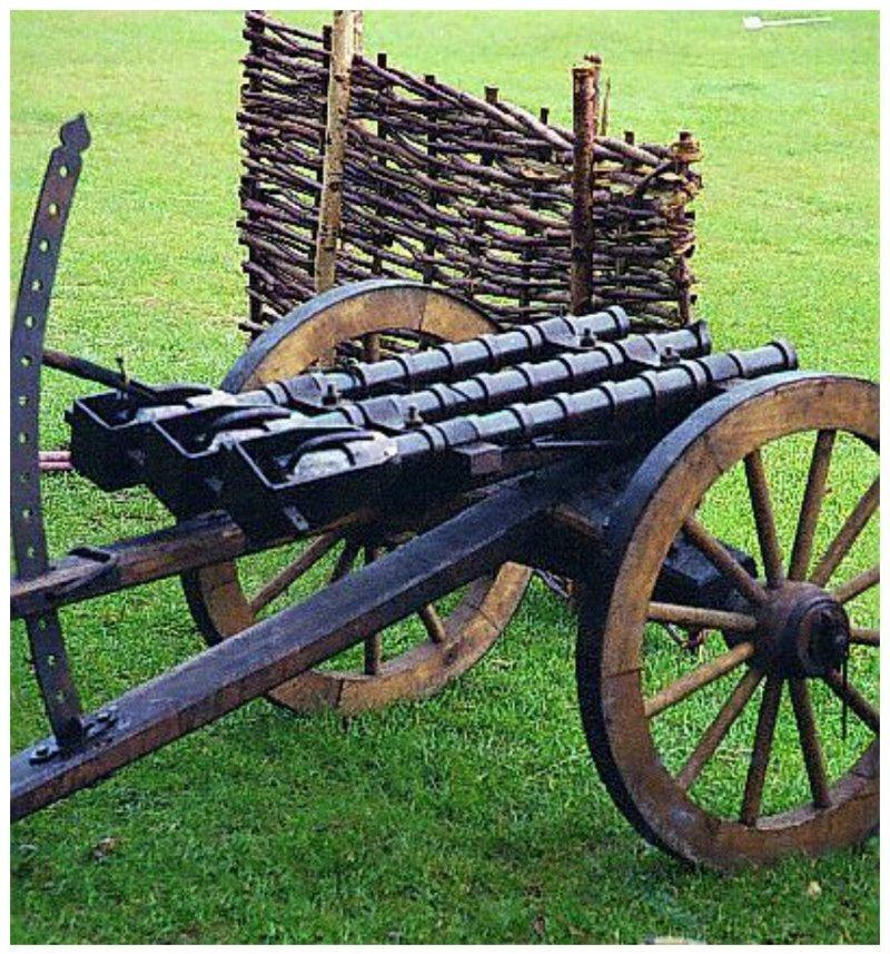 Трехствольная пушка артиллерия, военное, интересное, история, необычное, пушки