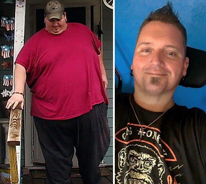 4.唐纳德谢尔顿306公斤,体重134公斤,前后人,和平,肥胖,减肥,改造,改造