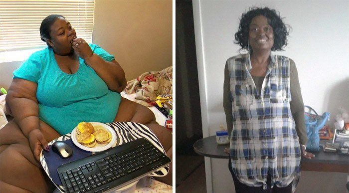 3. Marla McCantse从363公斤到136公斤体重,前后人,和平,肥胖,减肥,改造,改造