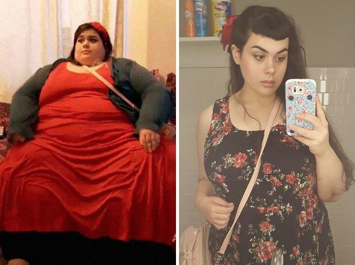 Ember Rashdi从299公斤的107公斤体重,前后,人,和平,肥胖,减肥,改造,改造