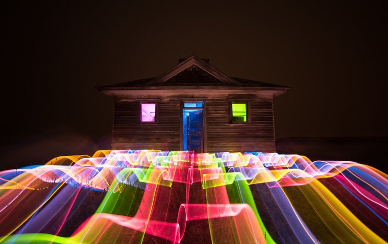 Не фотошоп, а светографика! light painting, город, светографика, эстетика