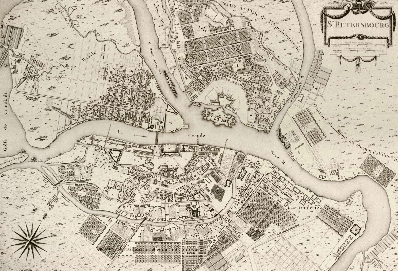 1753 год СПб, древние карты, карты, карты Питера, редкие карты, санкт-петербург