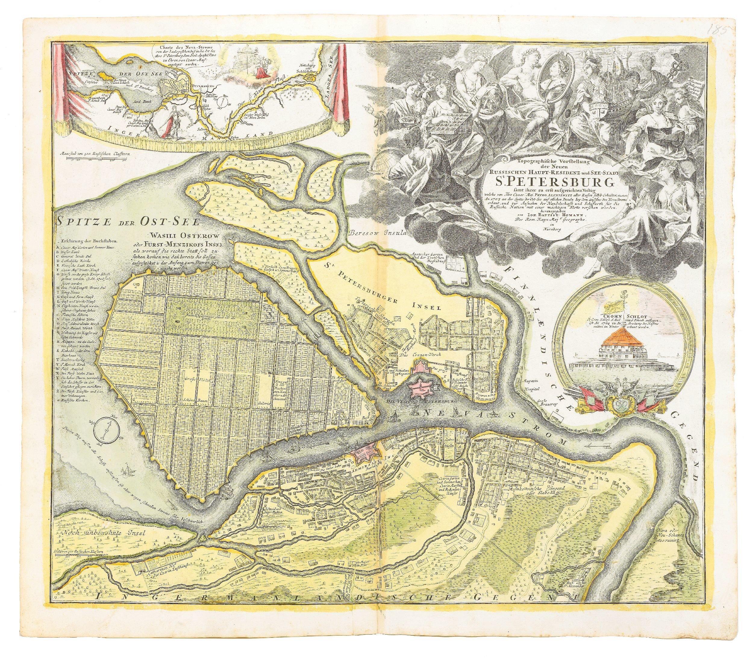 Карта 1720 года СПб, древние карты, карты, карты Питера, редкие карты, санкт-петербург