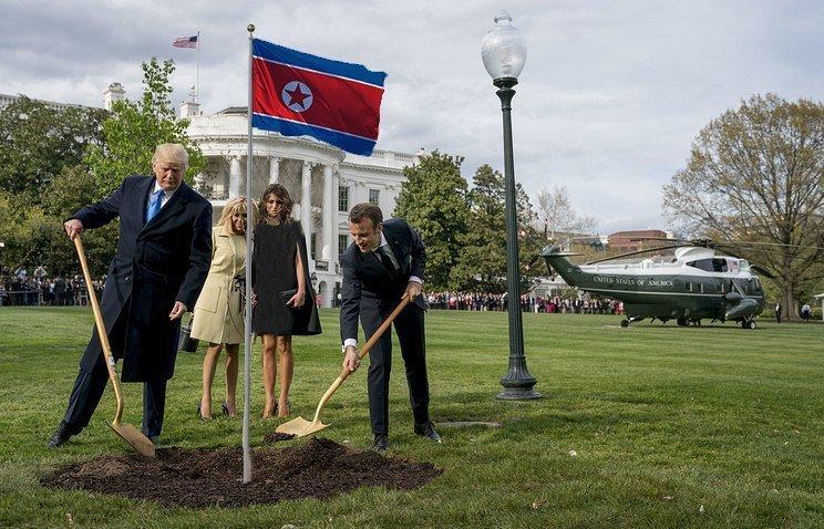 Поговаривают, что некоторые работы членов гильдии фотошопа могут стать пророческими Макрон, Трамп, прикол, фотошоп, юмор