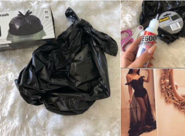 В пику злопыхателям школьница сделала на выпускной платье из мусорных пакетов в мире, люди, мусорный пакет, платье, своими руками, сделай сам