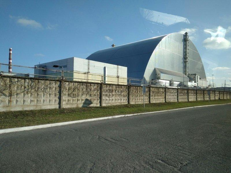 Арка над атомной станцией Припять, Чернобыль, атомная станция, чаэс