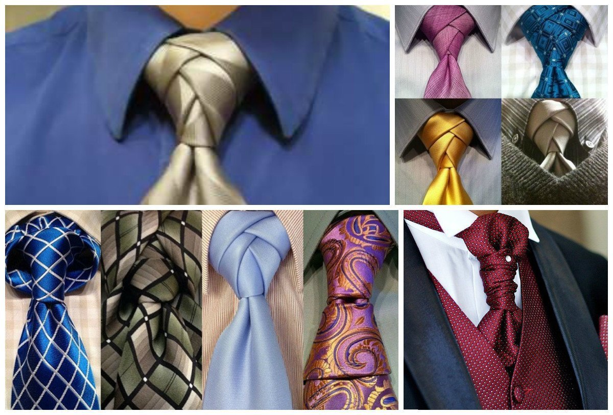 Разные способы завязывания галстука фото