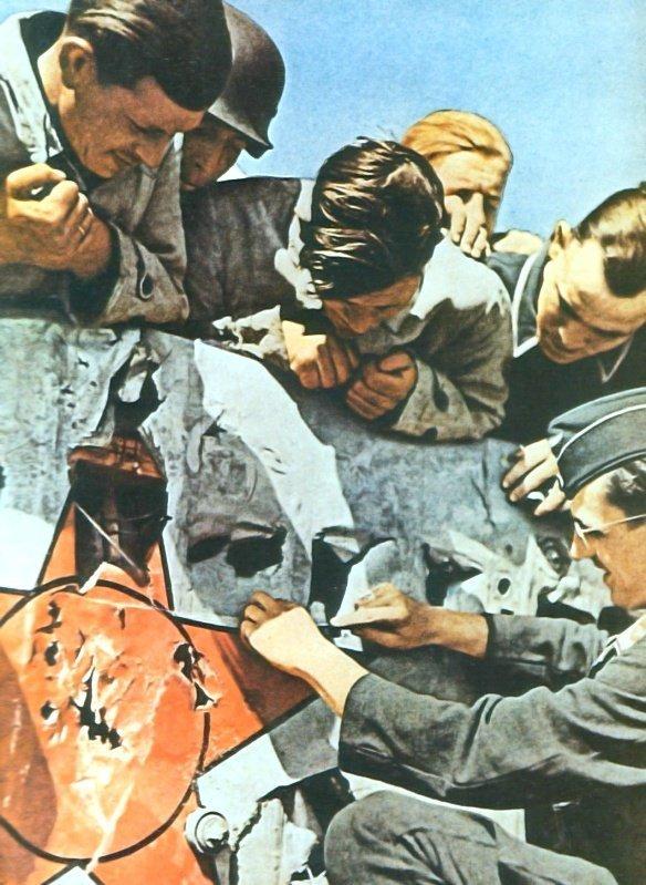 Немецкие зенитчики отдирают на сувениры куски обшивки сбитого ими советского истребителя И-153 «Чайка». Время съемки: 1941  Боевые самолеты Родины, СССР, история авиации