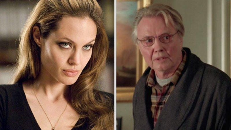 9. Анджелина Джоли - дочь Джона Войта голливуд, звезды, знаменитости, неожиданно, родственники, семейные узы, семья