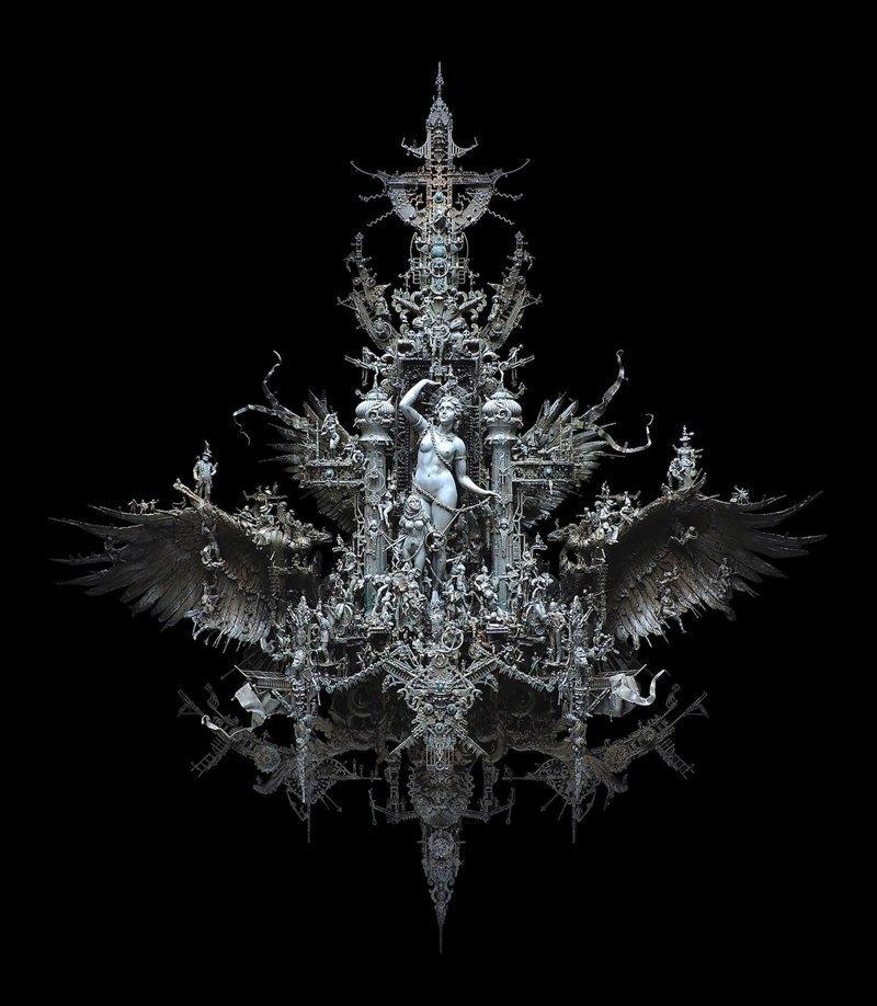 """""""Восход Эос"""" Крис Кукси, бог мелочей, из какого сора, искусство, подручные материалы, скульптура, статуи, творчество"""