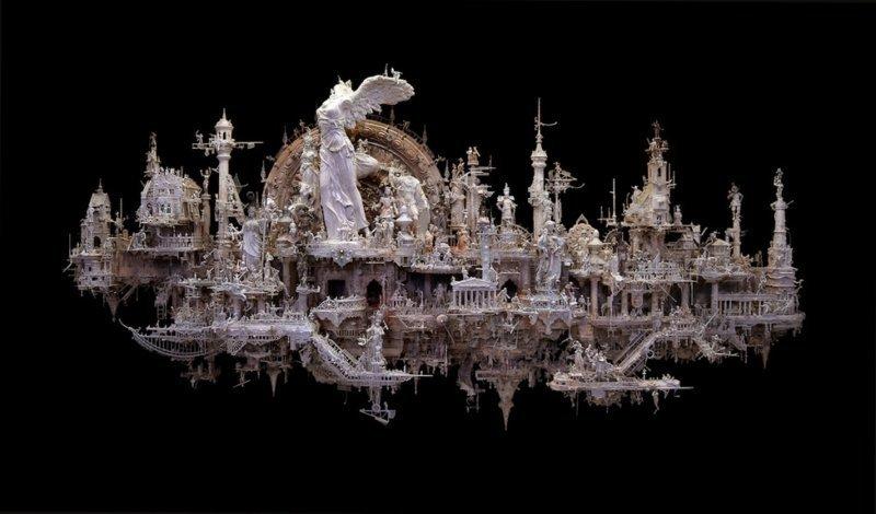 """""""Ника"""" Крис Кукси, бог мелочей, из какого сора, искусство, подручные материалы, скульптура, статуи, творчество"""